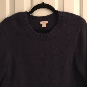 J Crew Navy Thick Sweater